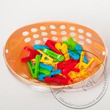 """Фото  товару Корзина з прищіпками (20 шт) з гачком """"ММ-пластмаса"""" BasPin20"""