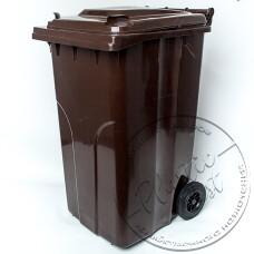 "Фото  товару Бак сміттєвий з кришкою на колесах 240л. ТПВ ""Алеана"""