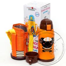 "Фото  товару Термос-поїлка дитячий в чохлі 500мл МТ-2055 (+ чашка) "" Термос"""