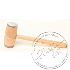 """Фото  товару Молоток дерев*яний з металевими насадками (для Відбивних) """"Західна україна"""""""