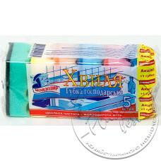 Фото  товару Мочалка для Посуду ( 5+1 шт в упаковці ) Хвиля