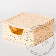 """Фото  товару Кошик-скринька для серветок №4154 MERWY (19*19*8см.) """"Турція"""""""