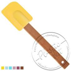 """Фото  товару Силіконова лопатка.бамбукова ручка НН-071В  (25.5 см.) """"STENSON"""""""