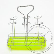 """Фото  товару Сушарка-підставка для стаканівчашок з піддоном """"Сердечки"""" R84803 (22*26.5см) """"STENSON"""""""