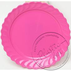 "Фото  товару Тарілка ЗАКУСОЧНА вел. (розова, голуба) ""Пластмасова посуда"""