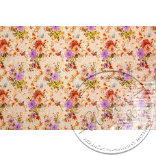 """Фото  товару   8776 C Клейонка силіконова    (1.37 - 30 м) """"Вел. квіти беж. """"Скатертина"""""""