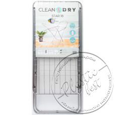 """Фото  товару Сушка для білизни (арт. 0503М)  STAR 18  """"Clean&Dry"""" 18м. """"Тарлев""""(6шт.)"""