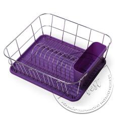 "Фото  товару Сушка для посуду 1 ярусна №0763-С (37*33*13.5см.) (фіолет) ""АМА"""