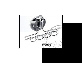"""Підставка-тримач для зубних щіток(Класика)присос. № W 2970 """"Хром"""""""