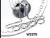 """Фото 1 товару Підставка-тримач для зубних щіток(Класика)присос. № W 2970 """"Хром"""""""