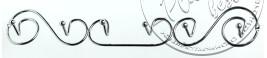 """Гачок №0373 спіраль (на 6 гачків) (46*4.5*7см.) """"АМА"""""""