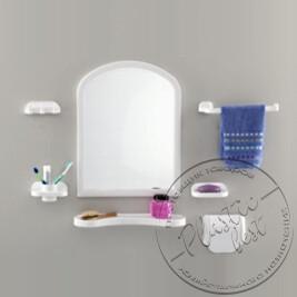 """Набір аксесуарів з дзеркалом  TP-2001 (Aqua Set) (арка) (550*420) """"Томбо"""""""
