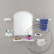 """Фото  товару Набір аксесуарів з дзеркалом  TP-2001 (Aqua Set) (арка) (550*420) """"Томбо"""""""
