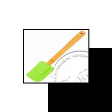 """Фото  товару Силіконова лопатка.бамбукова ручка НН-089В  (25.5 см.) """"STENSON"""""""