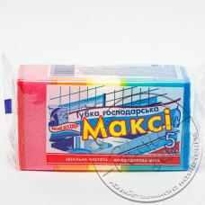 Фото  товару Мочалка для Посуду ( 5  шт в упаковці ) Максі МД