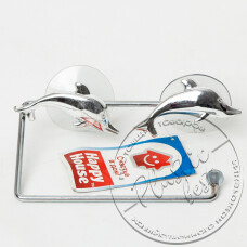 "Фото  товару Тримач туалетного паперу W2503 ""Дельфін"" (на присосках) ""Хром"""