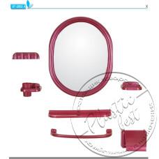 """Фото  товару Набір аксесуарів з дзеркалом  TP-2000 ОВАЛЬНЕ """"Томбо"""""""