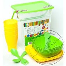 """Фото  товару Набір Посуду у контейнері з ручкою (на 4 персони) (Подарунковий) """"Алеана"""""""