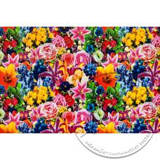 """Фото  товару 8288 F Клейонка в рулонах ПВХ на нетканій основі (1.37 - 25 м) """"квіти """"Скатертина"""""""