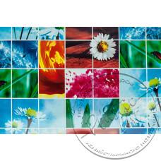"""Фото  товару 8293 А Клейонка в рулонах ПВХ на нетканій основі (1.37 - 25 м) """"квіти""""Скатертина"""""""