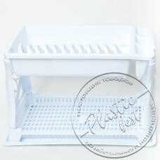 """Фото  товару Сушарка для посуду (2-х ярусна) """"Irak Plastik"""" TA-135 """"Турція"""""""