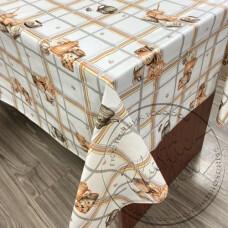 """Фото  товару 2760 D Клейонка в рулонах ПВХ на нетканій основі (1.37 - 25 м)  """"Скатертина"""""""