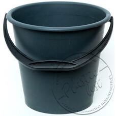 "Фото  товару Відро   10 л  (Чорне)  пластмасове господарче  (2 - сорт) "" МЕД"""