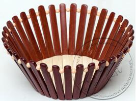 """Хлібниця (бамбукова корзінка Кругла Д- 23,5 см)   """"Китай"""""""