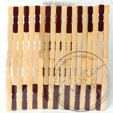 """Фото  товару Підставка під гаряче бамбукова(зебра ВЕЛИКА)  """"Китай"""""""