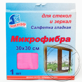 Серветка для Скла і Дзеркал з мікрофібри (30*30)