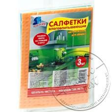Фото  товару Серветки вологопоглинаючі (3шт, 13х18 см) з целюлози. Мойдодир