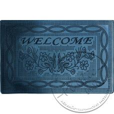 """Фото  товару Коврик  гумовий 35-54  """"Welcome/Колібрі/Листок/Ромашка/Слід"""" """"Вест"""""""