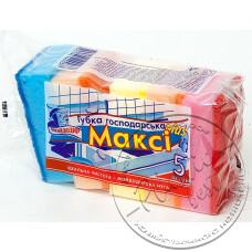 Фото  товару Мочалка для Посуду ( 5  шт в упаковці ) Максі Plus (збільшена)