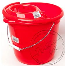 """Фото  товару Відро з Віджимом для прибирання КРУГЛЕ 12л. (Sero12.SS) """"Евро голд"""""""