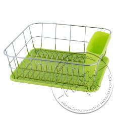 "Фото  товару Сушка для посуду 1 ярусна №0763-А (37*33*13.5см.) (зелений) ""АМА"""
