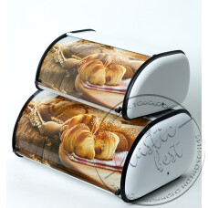 "Фото  товару Хлібниця МЕТАЛ ( набір 2 шт) №1814 ""А - плюс"""